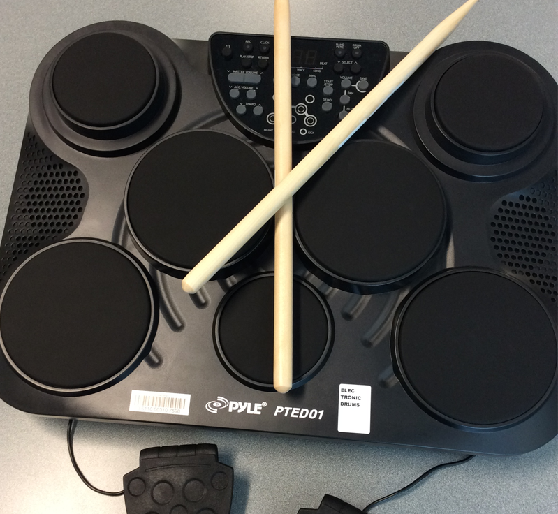 New: electronic drum kit