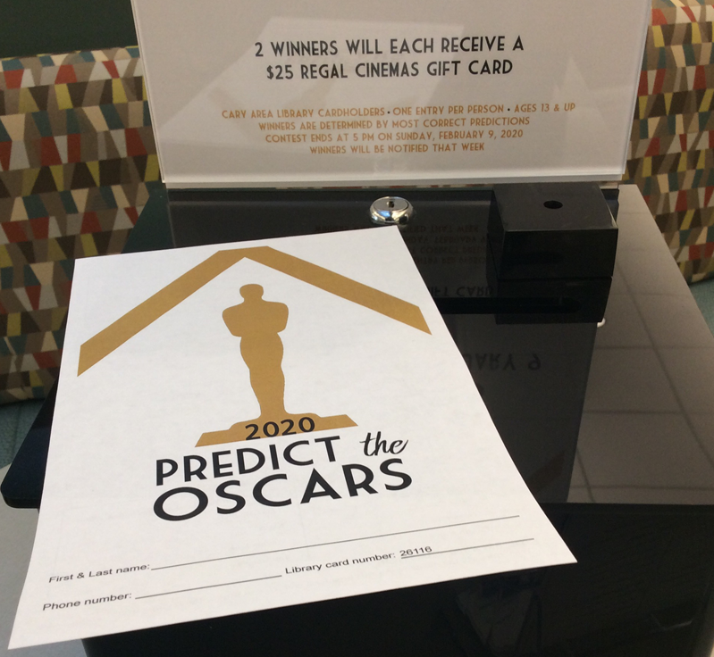 Annual Oscar prediction contest